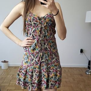 PARKER Floral Print  Ruffled Dress